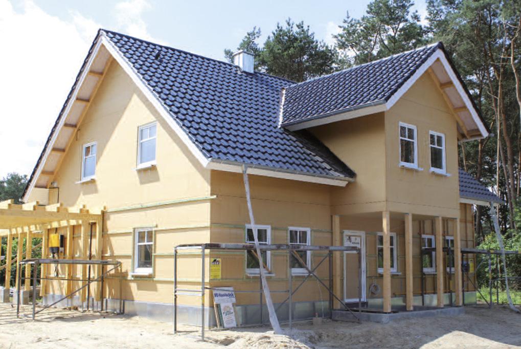 Bauphase Holzrahmenbau