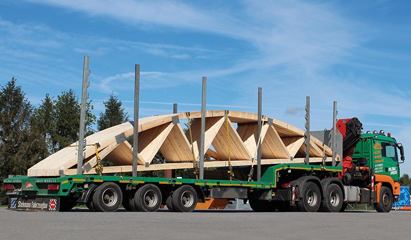 Eigene Logistik von Holzbau Janssen