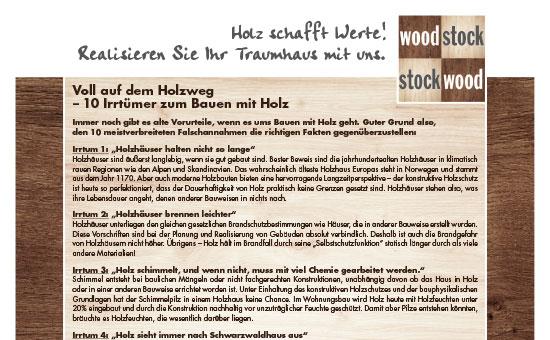 Irrtümer zum Bauen mit Holz