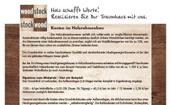 Kosten im Holzrahmenbau