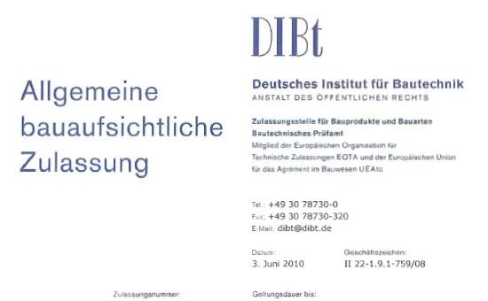Nagelplattenbinder - Zulassung M14