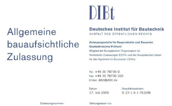 Nagelplattenbinder - Zulassung TopW